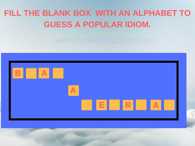English Idioms Fill In Puzzle-2
