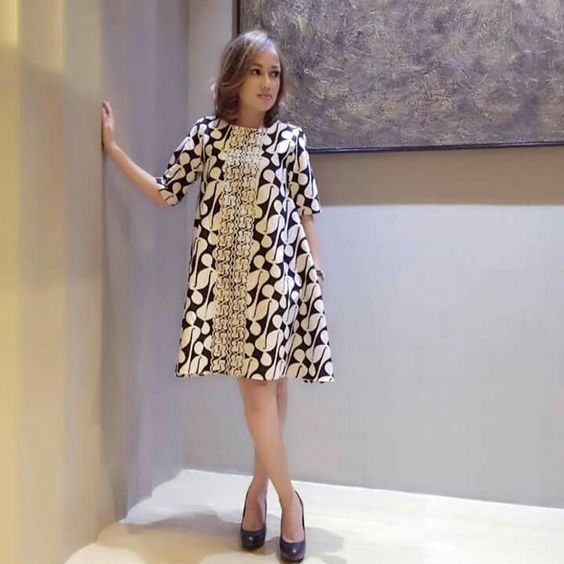 Inspirasi 20 Dress Batik Modern Keren Untuk Remaja