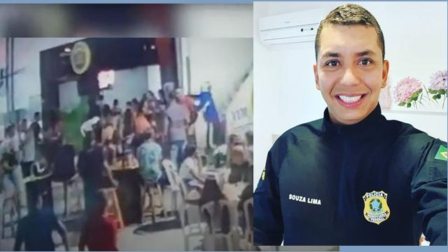 Cenas fortes: policial rodoviário federal é morto em lanchonete. Veja vídeo