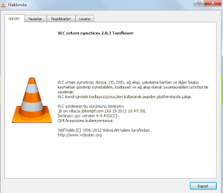 VLC Media Player 2.0.3 TR