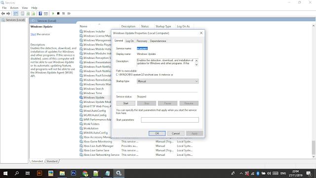 Cara Menonaktifkan windows update pada windows 10