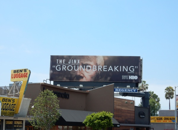 The Jinx Groundbreaking 2015 Emmy billboard