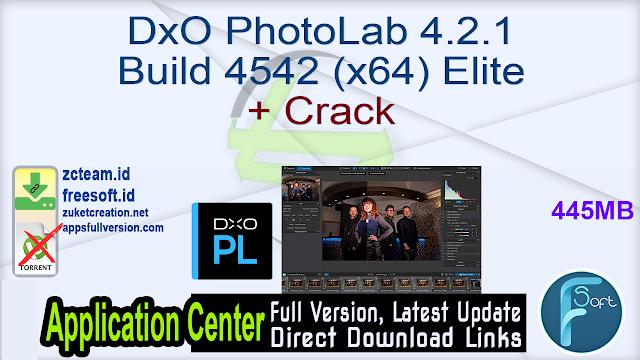 DxO PhotoLab 4.2.1 Build 4542 (x64) Elite + Crack_ ZcTeam.id