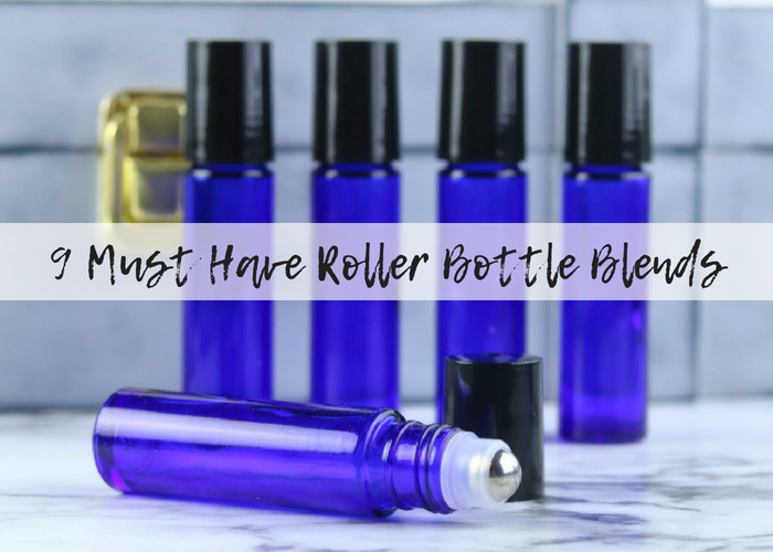 Here are my top 9 roller bottle recipes.  These 10ml roller bottle recipes are the ones I use all the time.  Roller bottles make it easy to use my oils.  Essential oil roller bottle recipes are easy to make and easy to use.  These essential oil roller blends are my favorites.  Roller ball essential oil recipes for all kinda of needs.  #diy #rollerblends #rollerbottle #essentialoils