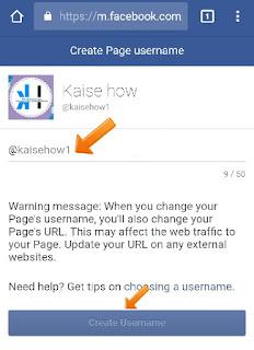 create facebook url