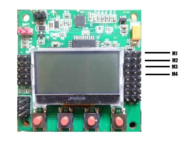 चारों Brush less motors को flight controller के channel 1,2,3,4 से connect करें