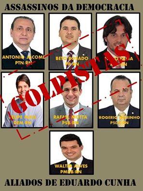 Resultado de imagem para fotos de deputados golpistas do rn