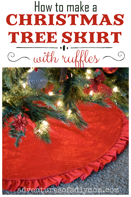How to Make a Christmas Tree Skirt with a Ruffle - a Step-by-Step Guide