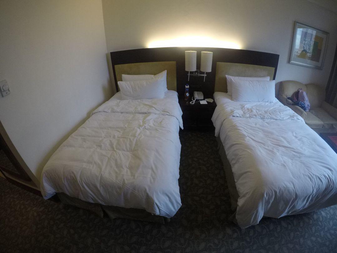 Beds at EDSA Shangri-La Hotel
