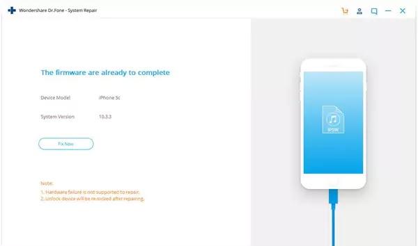 إصلاح الأيفون Wondershare Dr.Fone iOS