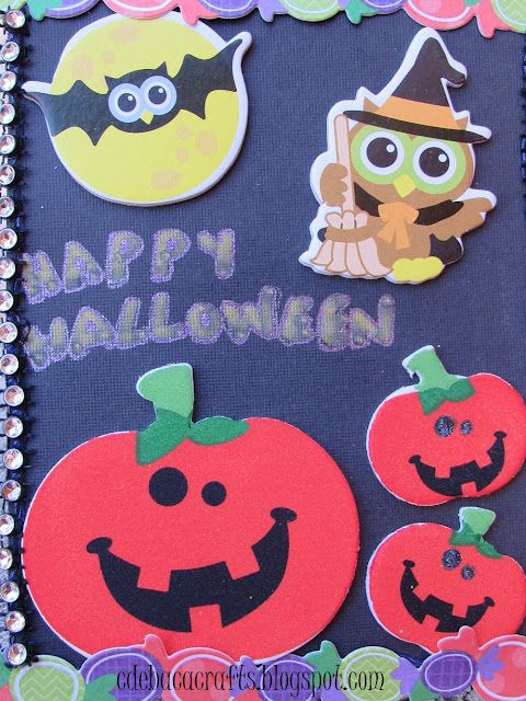 Halloween card for kids shown on CdeBaca Crafts blog.