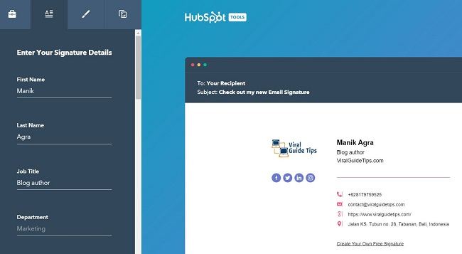 HubSpot - A Shiny New Email Signature Just For You