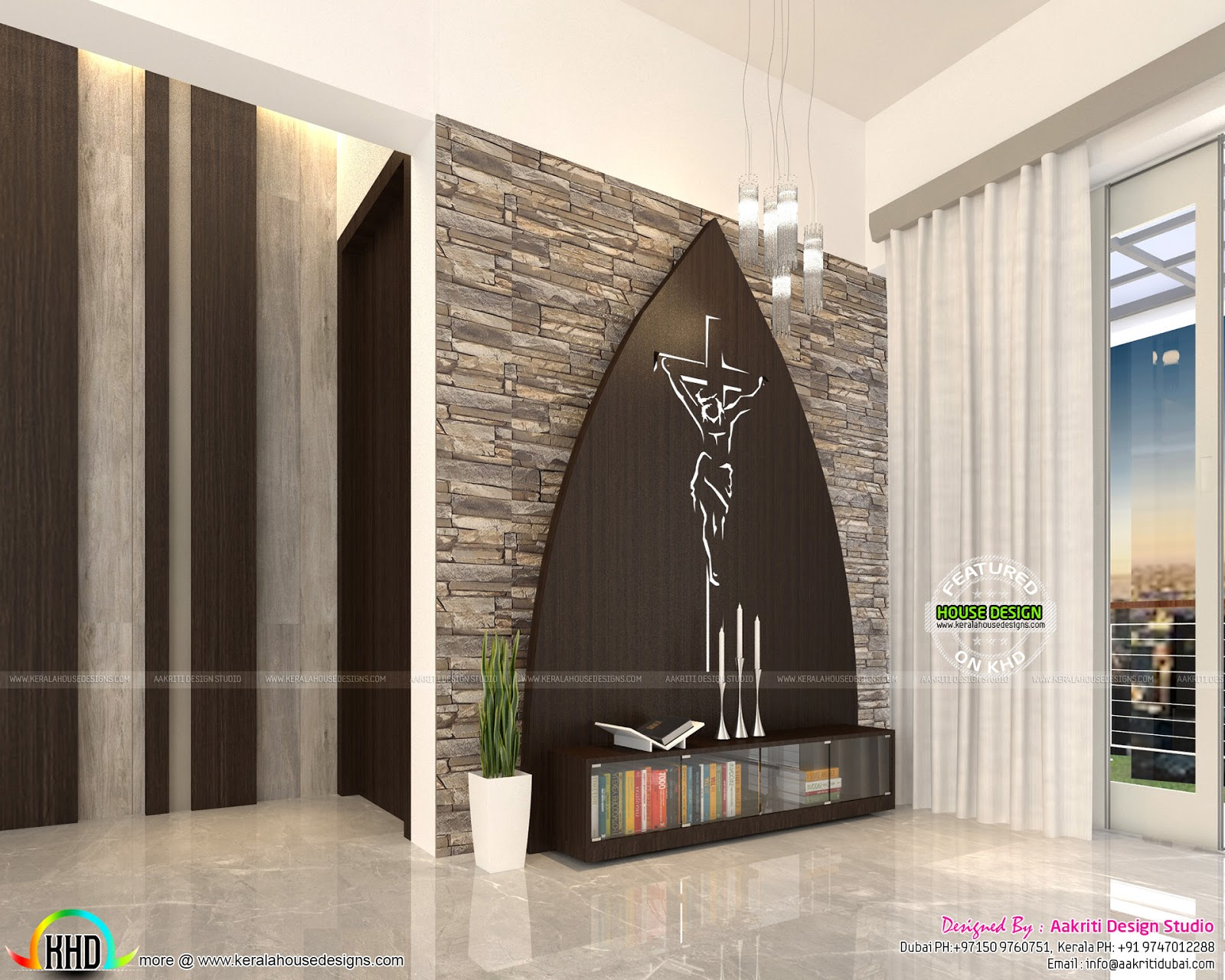 Flat interior designs in kerala kerala home design and for In house designer