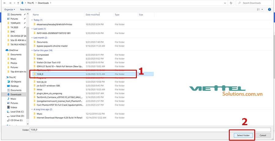 Hình 6 - Chọn folder chứa tiện ích Esigner.Chrome.TCT đã tải về