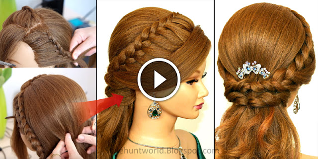5 Minute DIY - How To Create Party Wear Hairstyle, See Tutorial