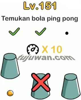 jawaban Brain Out Temukan Bola Ping Pong di level 151