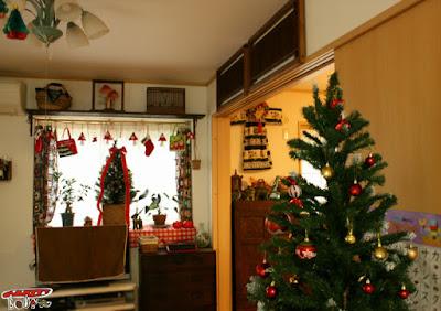 クリスマス部屋飾り付け
