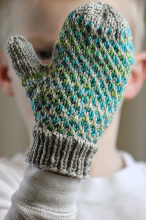 Minky Mittens - Free Knitting Pattern