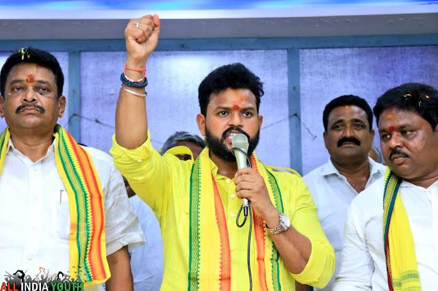 Ram Mohan Naidu fist raising wallpaper