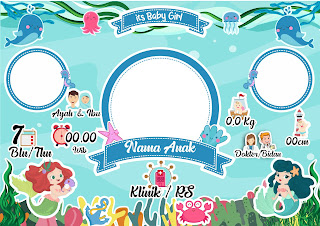 Desain Biodata Bayi Free CDR dan PSD