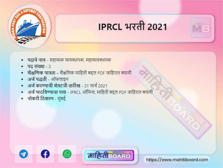 IPRCL Recruitment 2021
