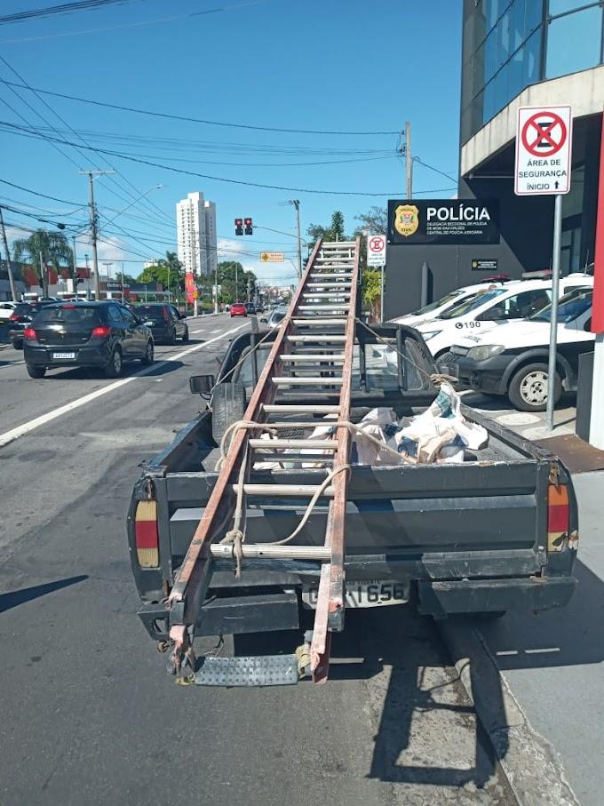 DUPLA CAPTURADA POR FURTO DE ESCADA  NA VILA INDUSTRIAL  NA AÇÃO DESENVOLVIDA POR EQUIPE DA GUARDA MUNICIPAL