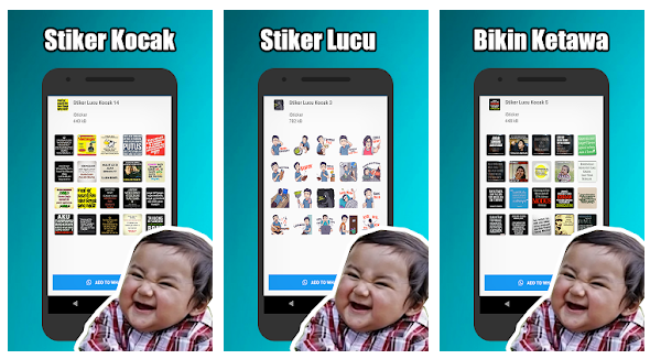 Stiker Lucu Kocak Indonesia WAStickerApps