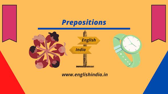 Preposition, Learn English in india, Learn english