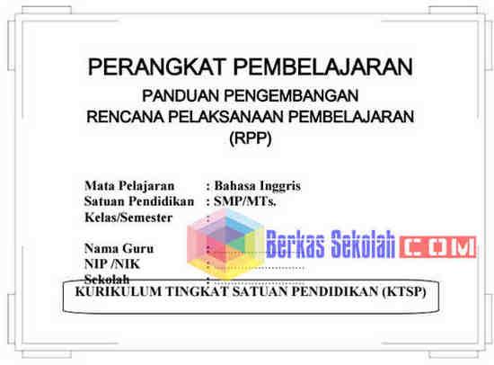 Perangkat Pembelajaran Bahasa Inggris SMP/MTs Kelas 9 KTSP