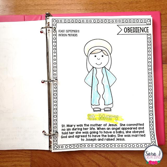 Catholic saint coloring books for kids