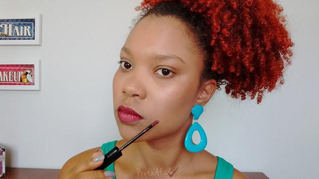 Resenha Batom Queen Makeup Metalizado