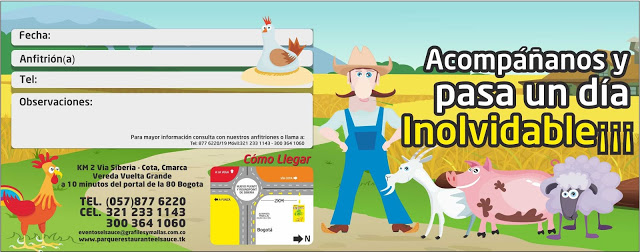 Invitacion editable camino paquetes fiesta cumpleaños Bogota