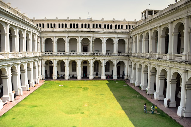 The lawn of the Indian Museum