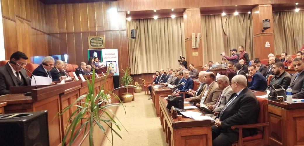 إنطلاق مؤتمر نقابة البترول الصحفي للإعلان عن تفاصيل مشروع تأمين جماعي للعاملين