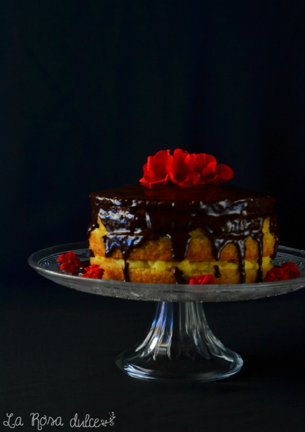 Boston Cream Pie sin gluten y sin lactosa