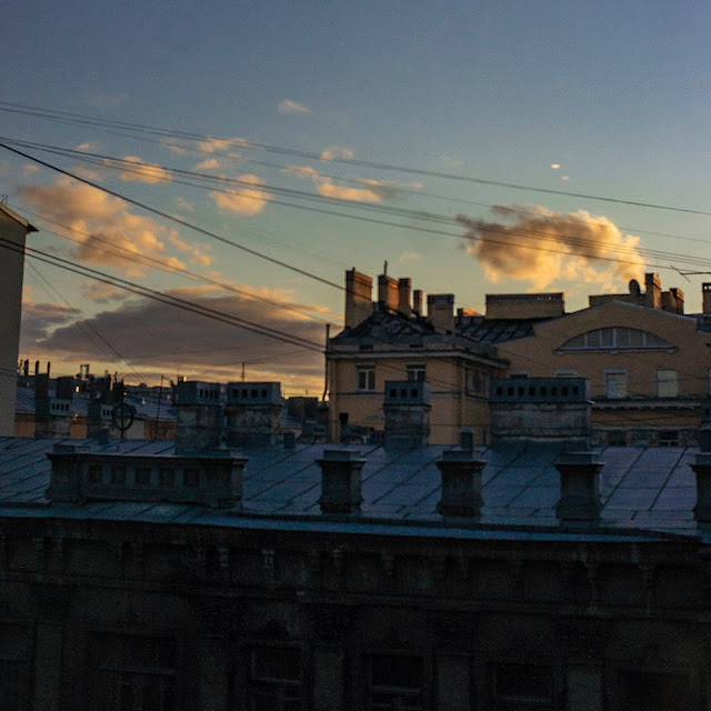 фабрика облаков крыша Питер небо СПб