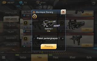Akhirnya!! Tips Mendapatkan Senjata P90 Gratis Dari Catatan Zaen Bangza Berhasil.