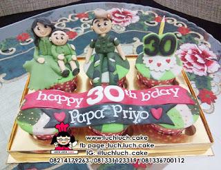 Cupcake Tentara Angkatan Darat TNI