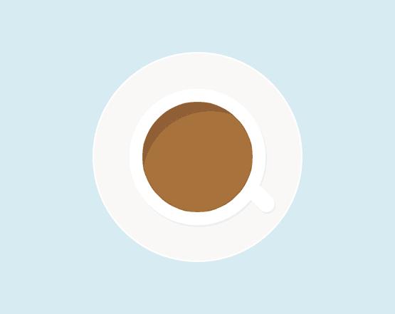 Tutorial desain ikon gelas kopi di Photoshop