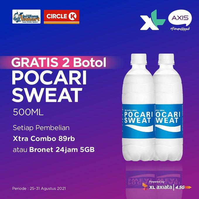 Gratis 2 Botol Pocari Sweat Isi Ulang XL & AXIS di Circle K (s.d 31 Agustus 2021)
