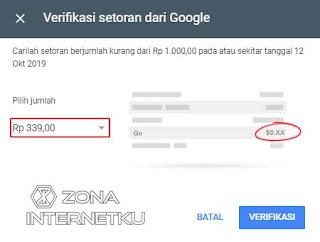 Verifikasi Pada Bank Virtual OVO untuk Adsense 3