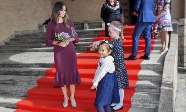 Crown Princess Victoria wore a new Iro maxi dress from By Malina, Princess Sofia wore a new henryke flounce dress from Hugo Boss