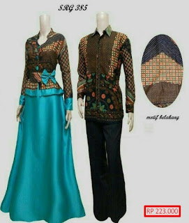 baju batik couple lengan panjang modern
