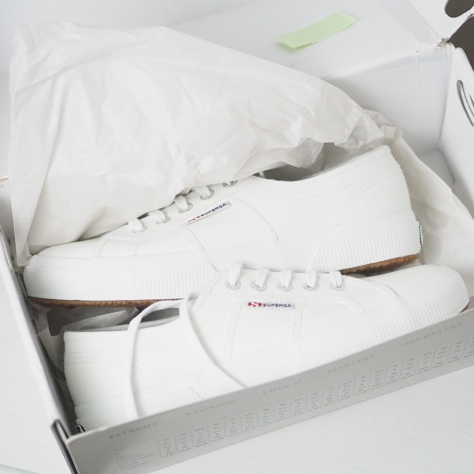 white leather superga