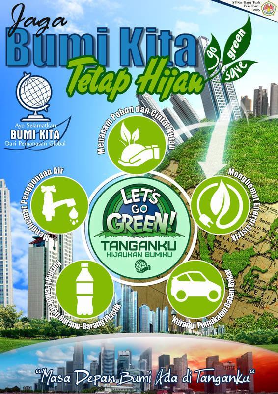 15 Contoh Gambar Desain Poster Lingkungan Go Green
