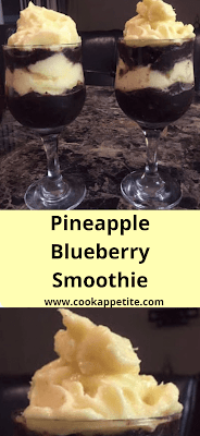 A pineapple and blueberry smoothie that is delicious for breakfast or snack. Start your day with this easy blueberry pineapple smoothie packed with sweetness and flavor, above it's packed with nutrients.