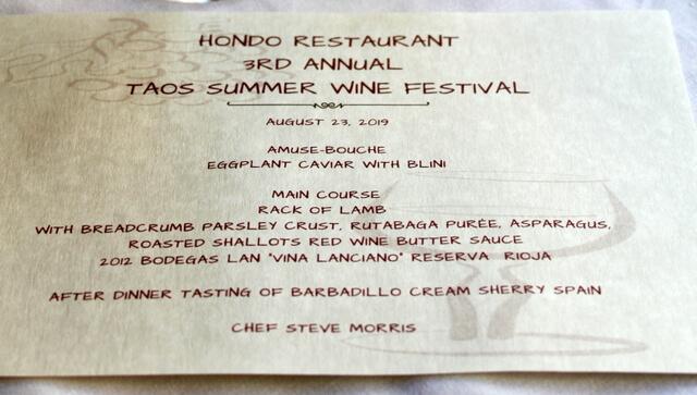 Hondo restaurant menu