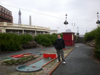 The North Shore Crazy Golf course in Blackpool, September 2009