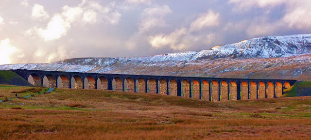 Ribblehead Viaduct, snow, North Yorkshire.
