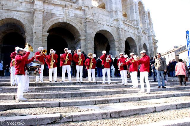 L'Anfiteatro Romano, Arles, durante la Feria